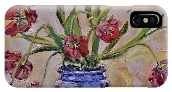 Wilting Tulips IPhone Case