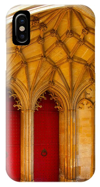 IPhone Case featuring the photograph Winchester Cathedral Archway - Mike Hope by Michael Hope