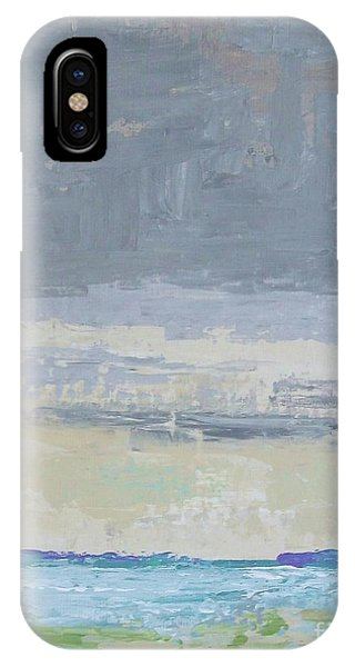 Wind And Rain On The Bay IPhone Case