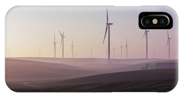 Wind Farm At Dawn IPhone Case