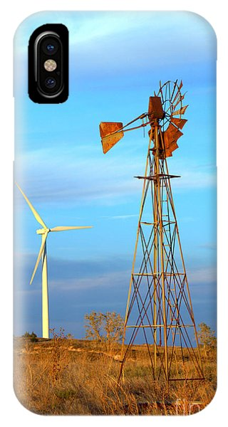 Wind Power  Then And Now IPhone Case