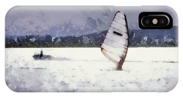 Wind Surfers On The Lake IPhone Case