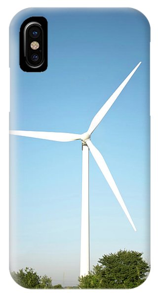 Wind Turbine And Blue Sky Phone Case by Jesper Klausen / Science Photo Library