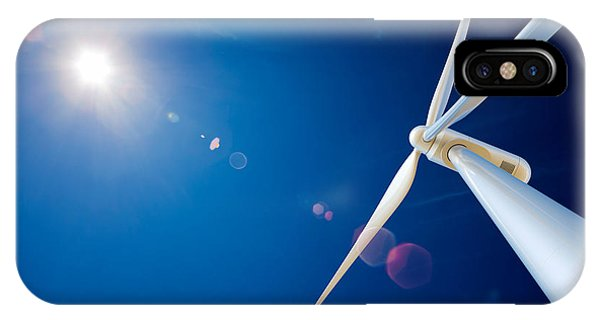 Industry iPhone Case - Wind Turbine And Sun  by Johan Swanepoel