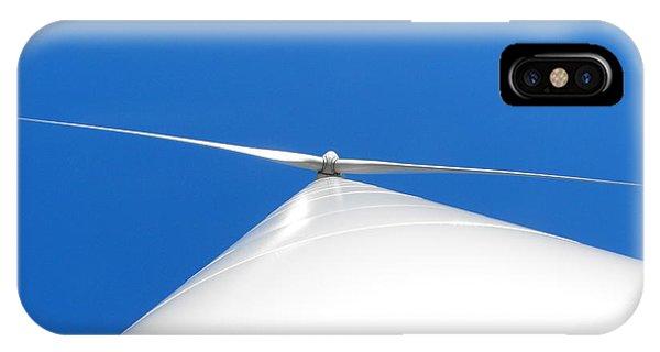 Wind Turbine Blue Sky IPhone Case
