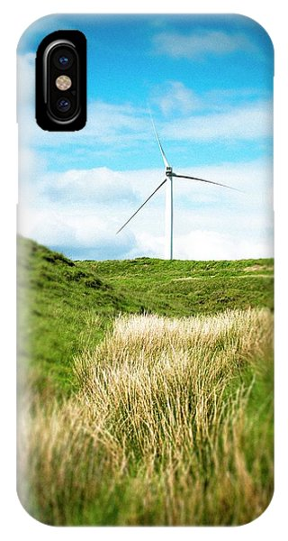 Upland iPhone Case - Wind Turbine by Dan Dunkley