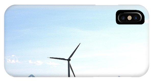 Wind Turbine Phone Case by Mavis Reid Nugent