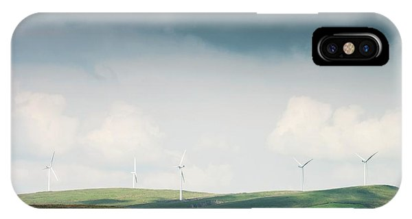 Upland iPhone Case - Wind Turbines by Dan Dunkley