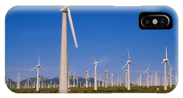 Wind Turbines In A Field, Mojave IPhone Case