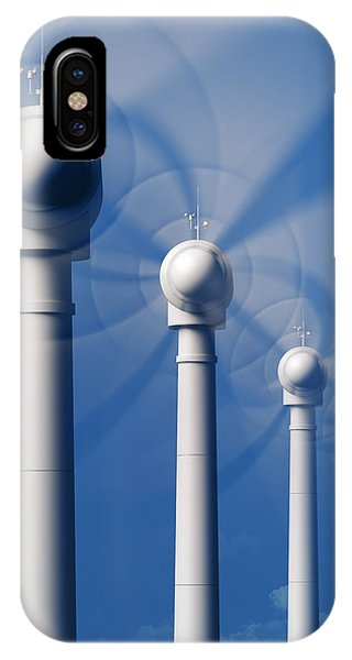 Industrial iPhone Case - Wind Turbines In Motion From The Front by Johan Swanepoel