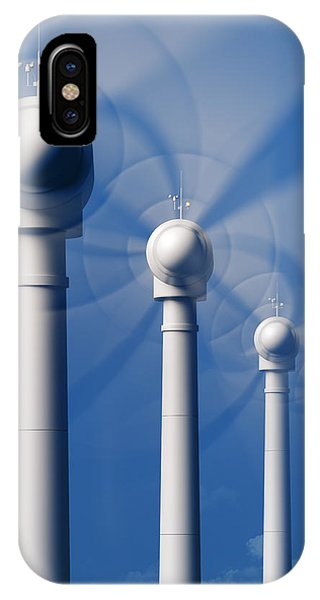 Industry iPhone Case - Wind Turbines In Motion From The Front by Johan Swanepoel