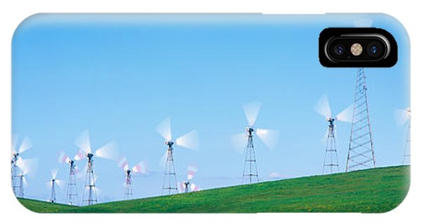 Wind Turbines Spinning On Hills IPhone Case