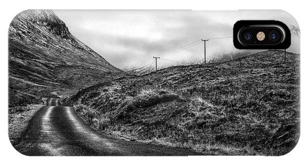 Beautiful Scotland iPhone Case - Winding Road In Glen Etive by John Farnan