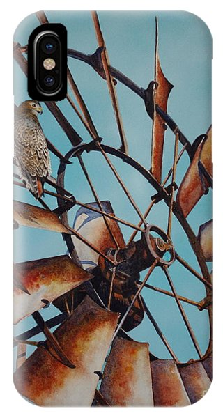 Windmill And Hawk IPhone Case