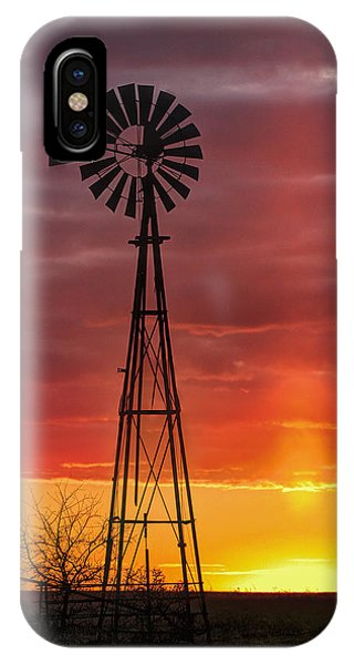 Windmill And Light Pillar IPhone Case