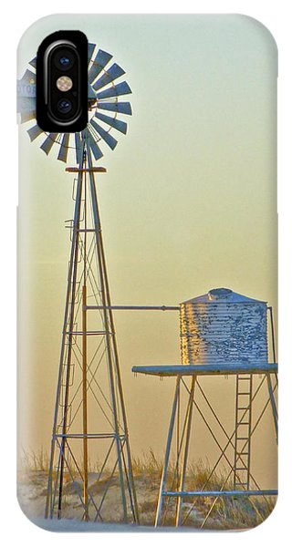 Windmill At Dawn 2011 IPhone Case