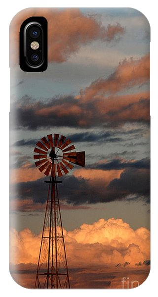 Windmill At Sunset V IPhone Case