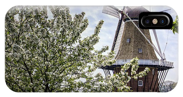 Windmill At Windmill Gardens Holland IPhone Case