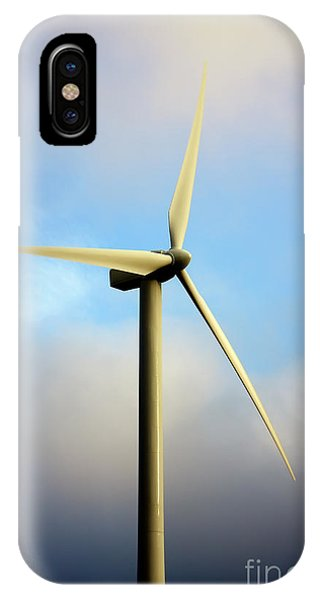 Windmill Dark Blue Sky IPhone Case
