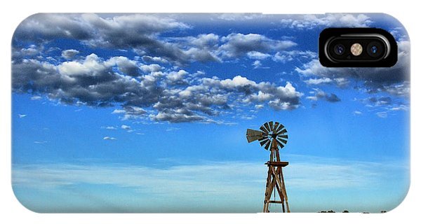 Windmill In Blue IPhone Case