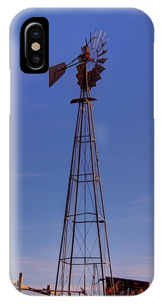 Windmill In The Fading Light IPhone Case