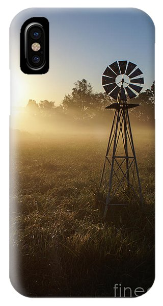 Windmill In The Fog IPhone Case