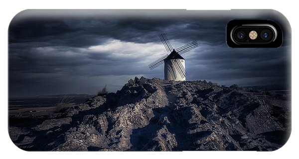 Tower iPhone Case - Windmill by Jose Garcia