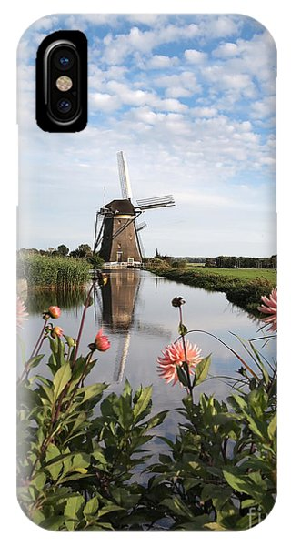 Windmill Landscape In Holland IPhone Case