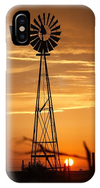 Windmill On The Prairie IPhone Case
