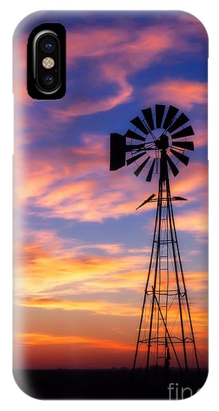 Windmill Silhouette 1 IPhone Case