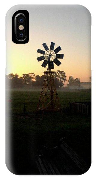 Windmill Sunrise IPhone Case