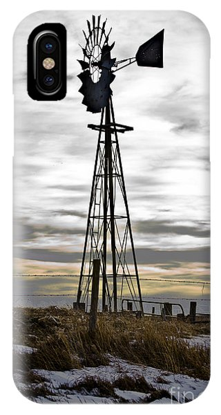 Windmill With A Scenic Sky IPhone Case