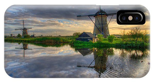 Creek iPhone Case - Windmills by Chad Dutson