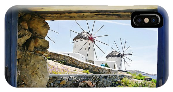 Windmills Through The Window Phone Case by Leanne Vorrias