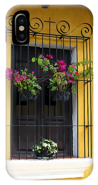 Window At Old Antigua Guatemala IPhone Case