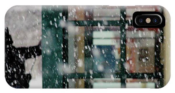 Winter iPhone Case - Window Cleaner by Jian Wang