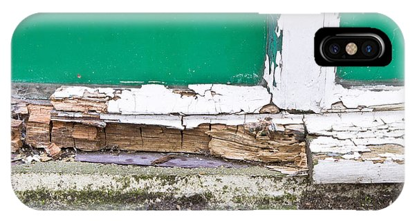 Cement iPhone Case - Window Frame Rot by Tom Gowanlock