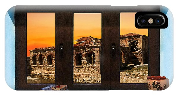 Window Into Greece 5 IPhone Case