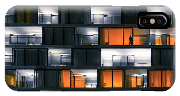 Facade iPhone Case - Window Night by Rob Li