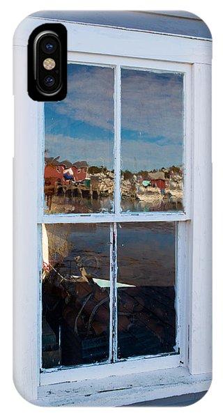 Nubble Light iPhone X Case - Window Reflections  by Emmanuel Panagiotakis