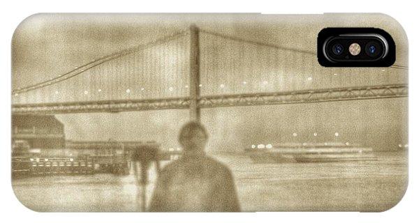 window self-portrait Embarcadero San Francisco IPhone Case