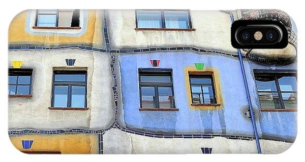 Facade iPhone Case - Windows Of Hundertwasser by Yair Tzur