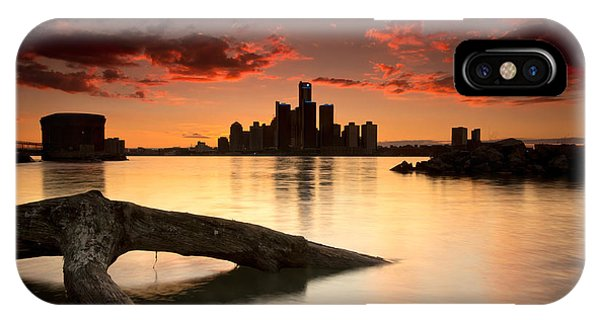 Windsor And Detroit Sunset IPhone Case