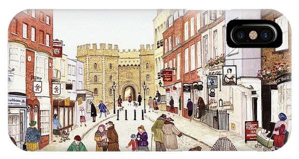 Window Shopping iPhone Case - Windsor Castle, 1989 Watercolour On Paper by Gillian Lawson
