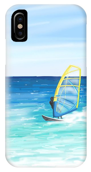 Waves iPhone Case - Windsurf by Veronica Minozzi