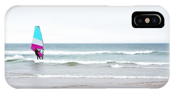 Windsurfer With Pink And Aqua IPhone Case