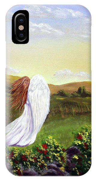 Windswept Angel IPhone Case