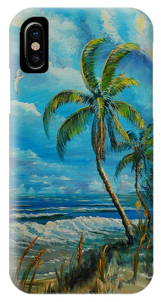 IPhone Case featuring the painting Windswept Beach by Steve Ozment