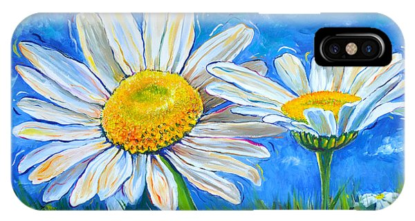 Windswept Daisies IPhone Case