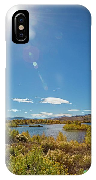 Windy Gap Reservoir Phone Case by Jim West/science Photo Library